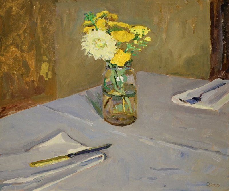 Kelly Carmoy, Table Settings with Flowers, Waltham Open Studios 2020