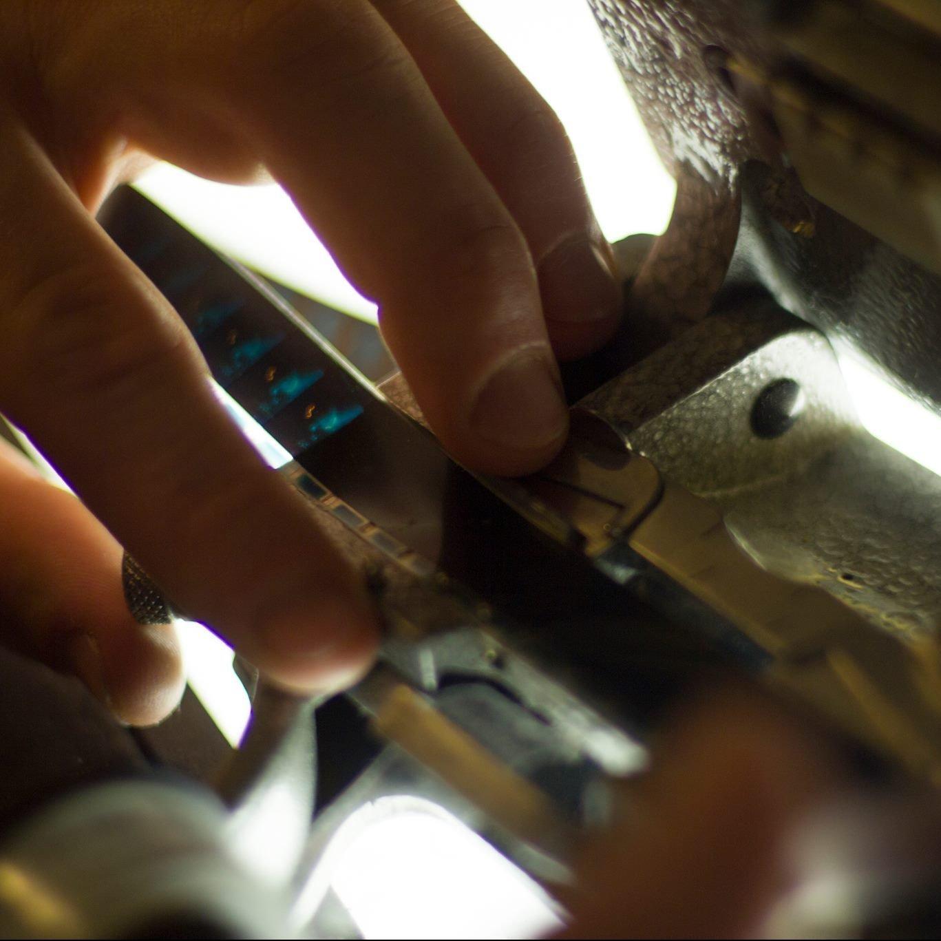 AgX Film Collective, Editing 16mm Film, Waltham Open Studios 2020