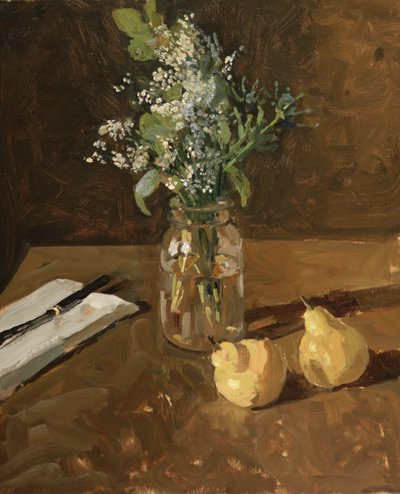 Kelly Carmody, Pears and Wildflowers, Waltham Mills 2020