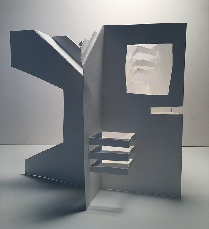 """House of Light - Artist's book - paper, 2020, 7"""" x 7"""" (variable)"""
