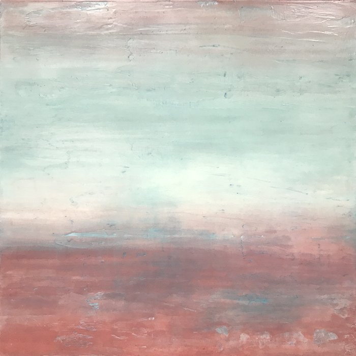 Blush Sky encaustic painting by Linda Cordner