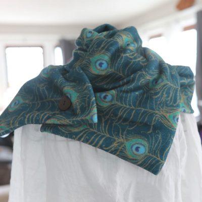 Miranda Loud peacock scarf at Waltham Virtual Studios