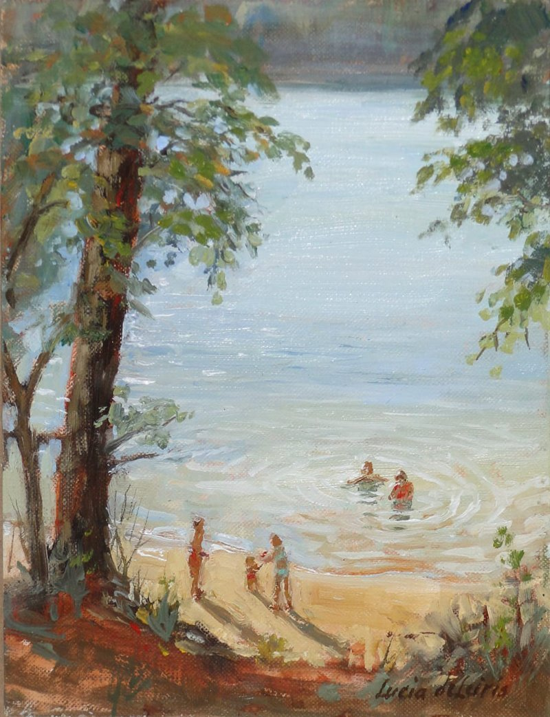 Lucia deLeiris, Summer Swim, at Waltham Open Studios 2020