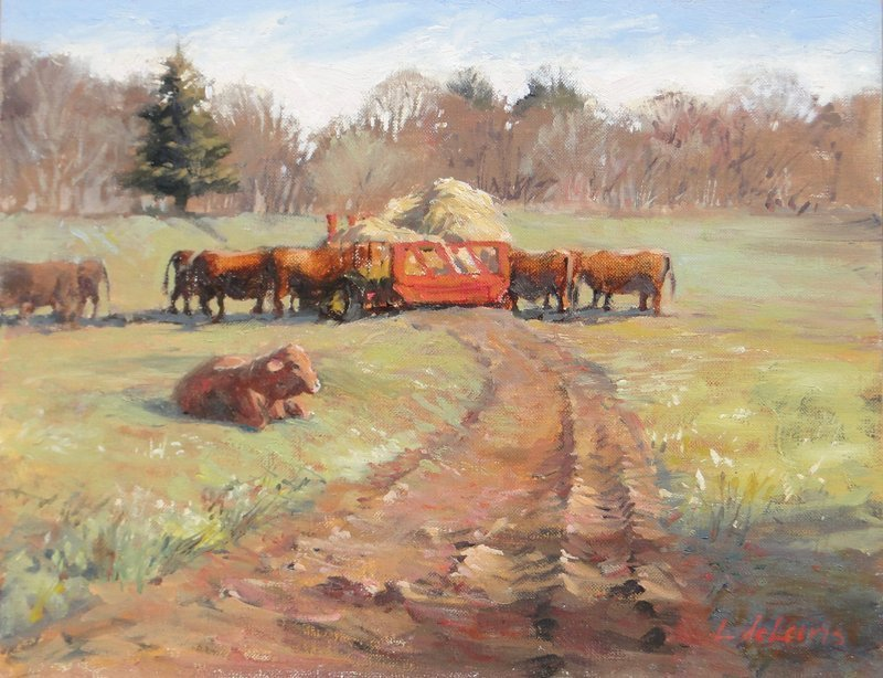 Lucia deLeiris, Waiting for Pasture, at Waltham Open Studios 2020