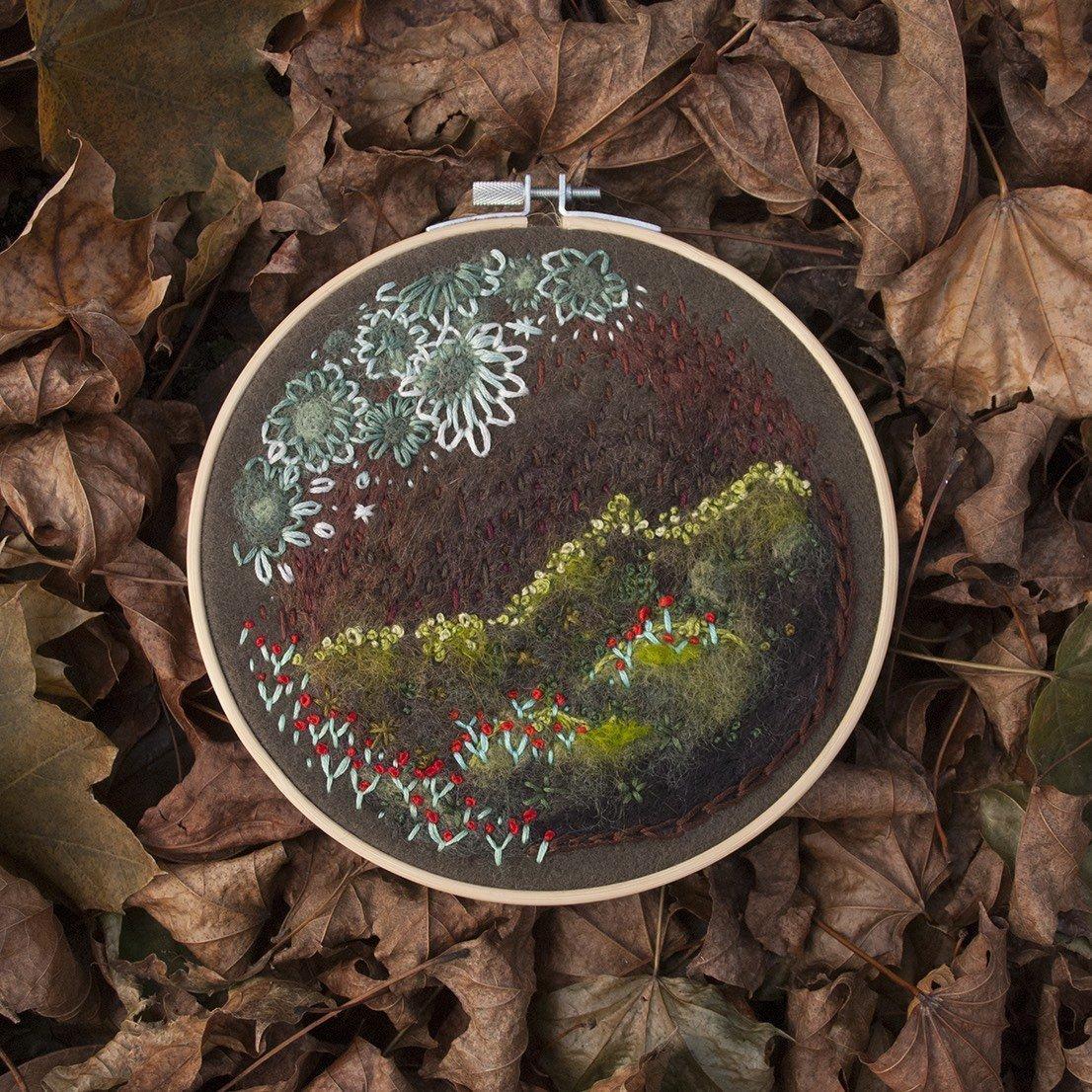 Marian Bolalek fiber artist at Waltham Virtual Studios