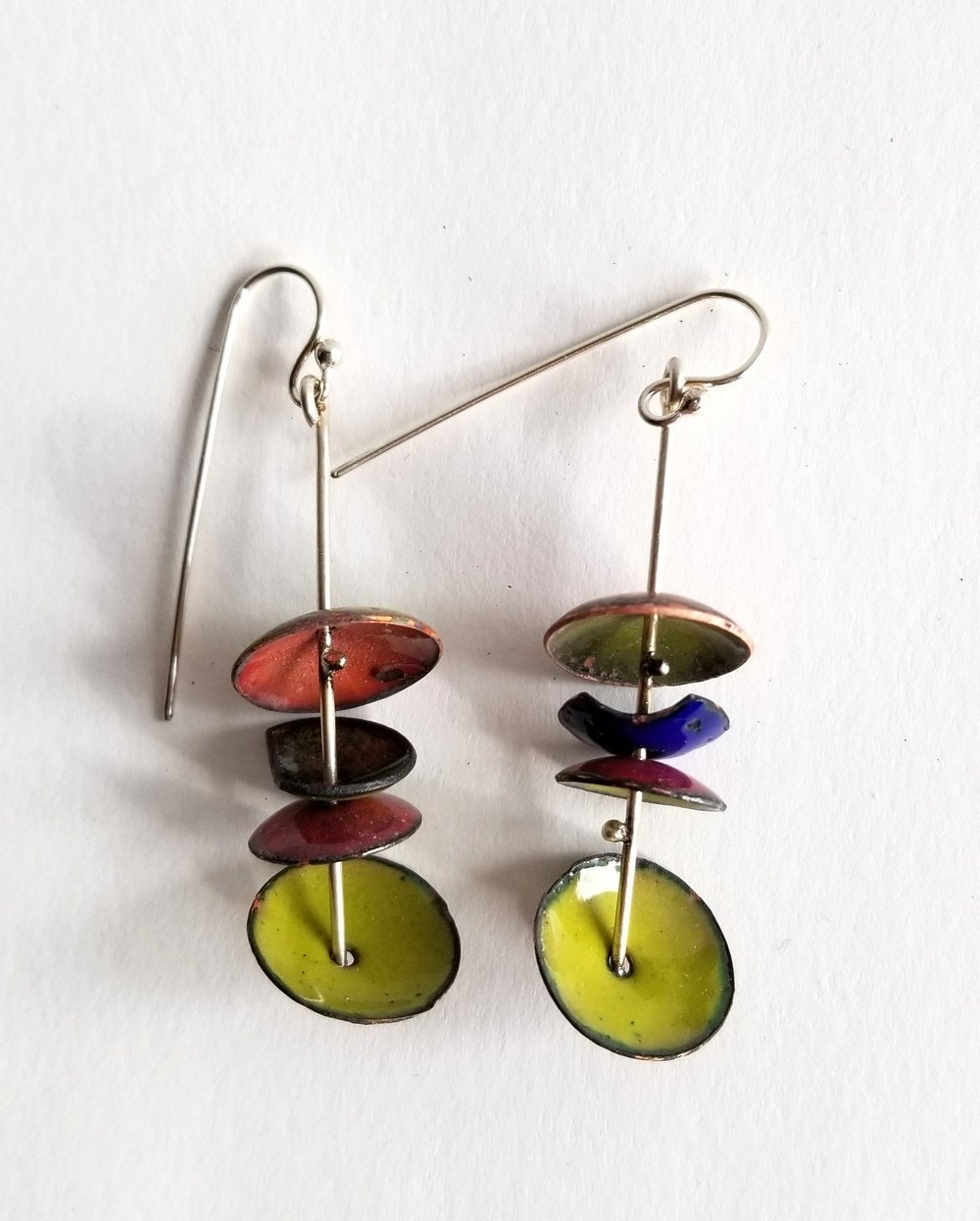 Shing Hsieh, Colors of Nature Earrings, at Waltham Open Studios 2020