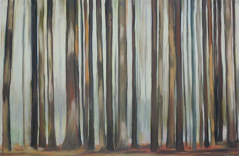 Andrea Tishman, Misty Morning, at Waltham Open Studios 2020