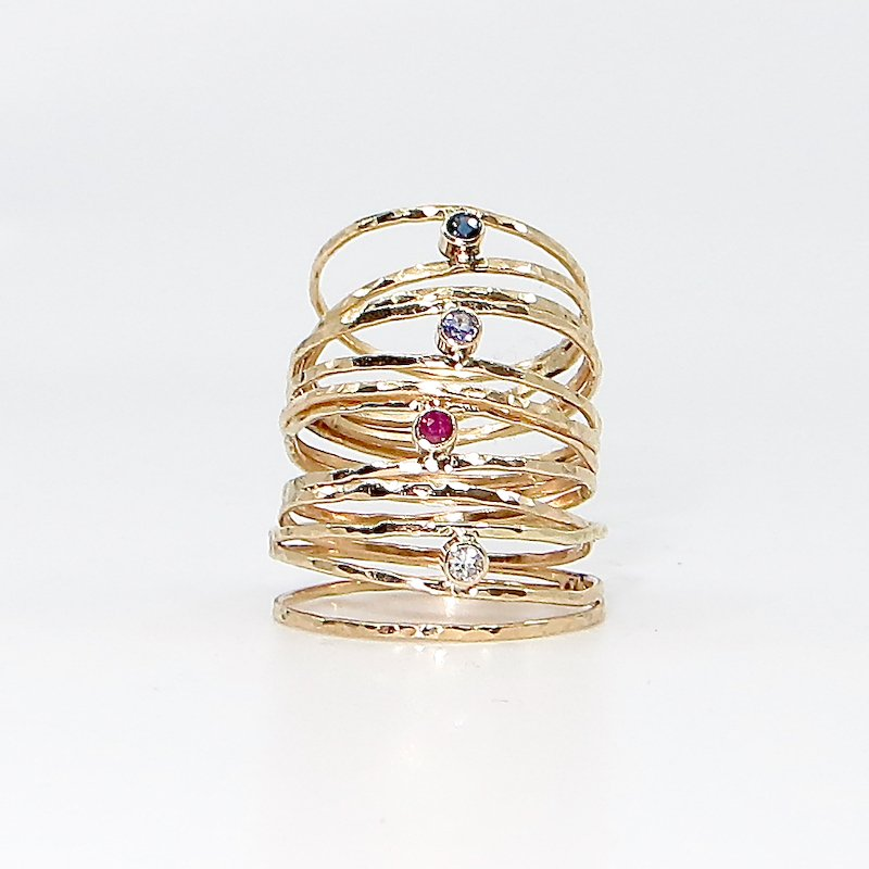 Wendy Jo New, Twinkle Ring Stack, at Waltham Open Studios 2020