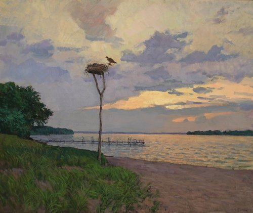 Stormy Sunset, oil painting by Viktor Butko at Waltham Open Studios