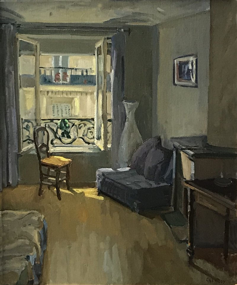 Kelly Carmody, Paris Interior, at the Waltham Mills, 2020