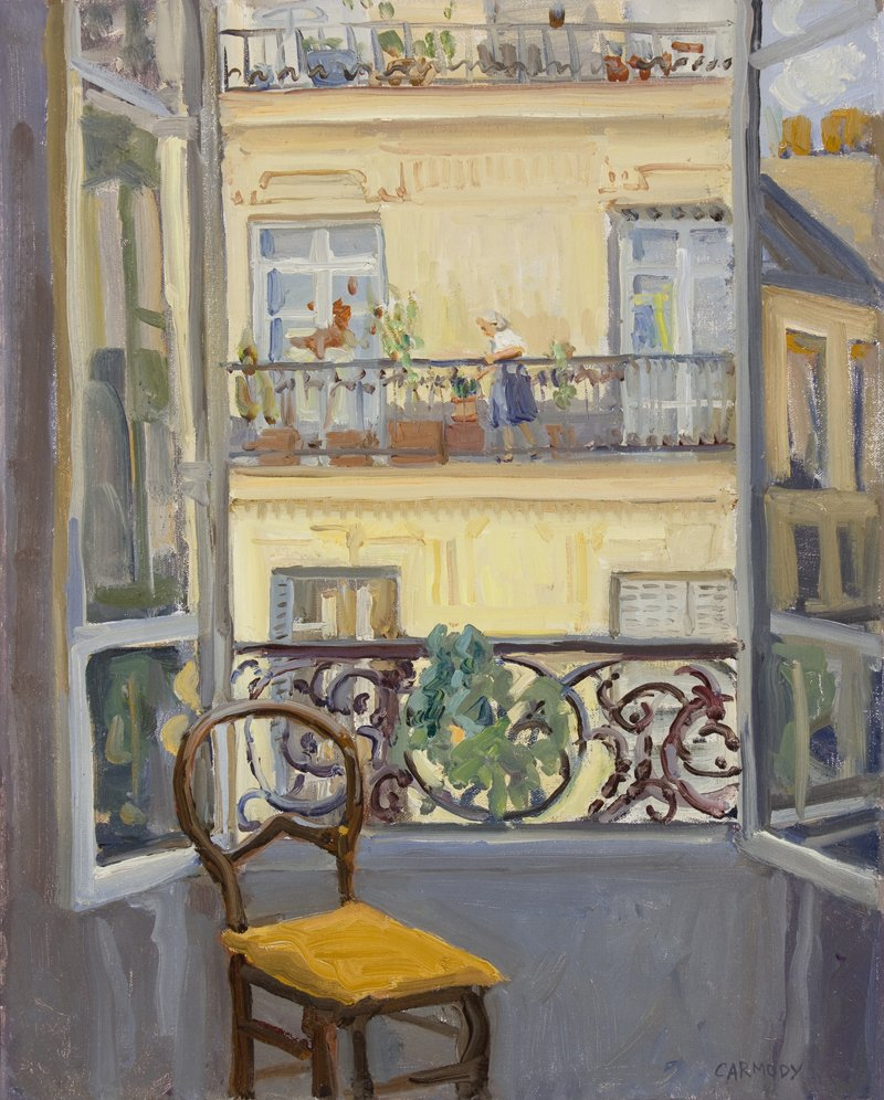Kelly Carmody, Paris Window View, At Waltham Mills 2020