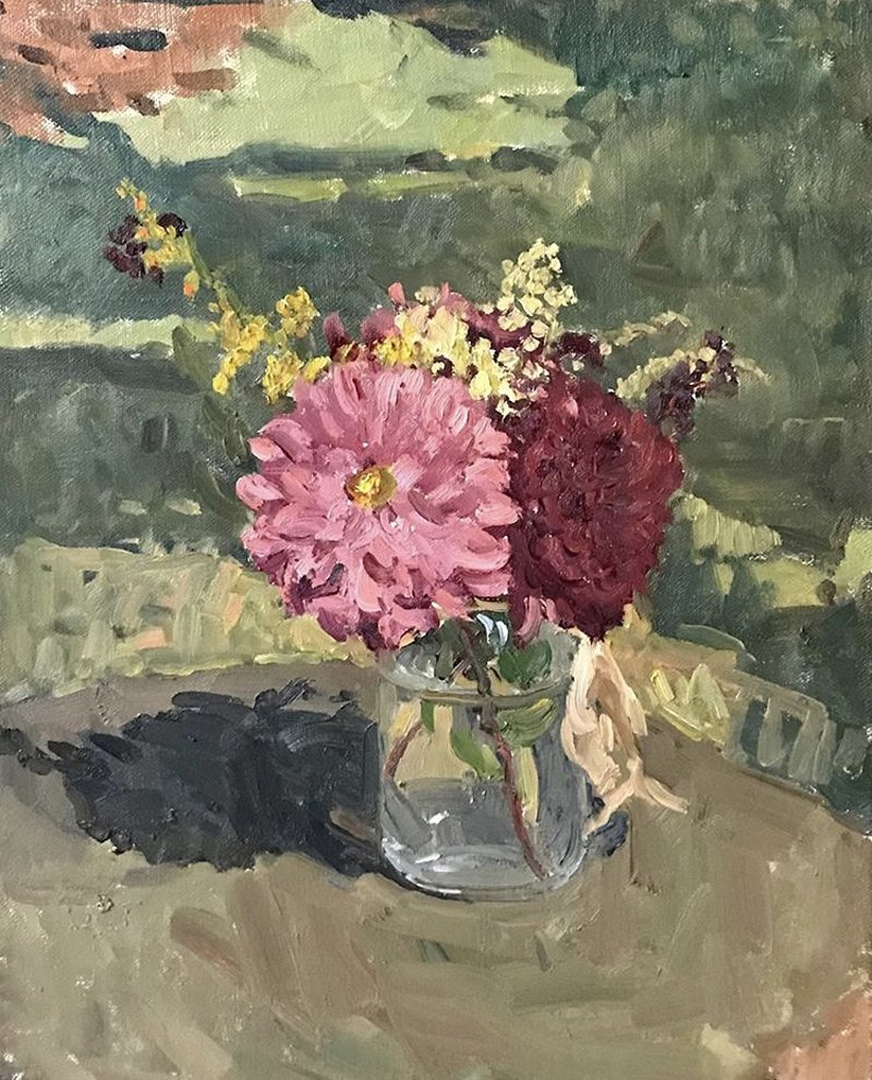 Kelly Carmody, Bouquet in the Sun. Waltham Open Studios 2020
