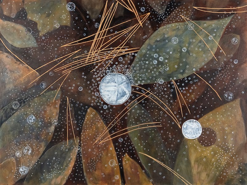 Eleanor Goud - Pond Ice - Waltham Open Studios