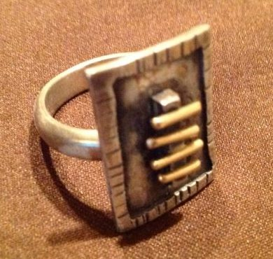 Jerry Schultz, Gold Bar Ring at Waltham Open Studios