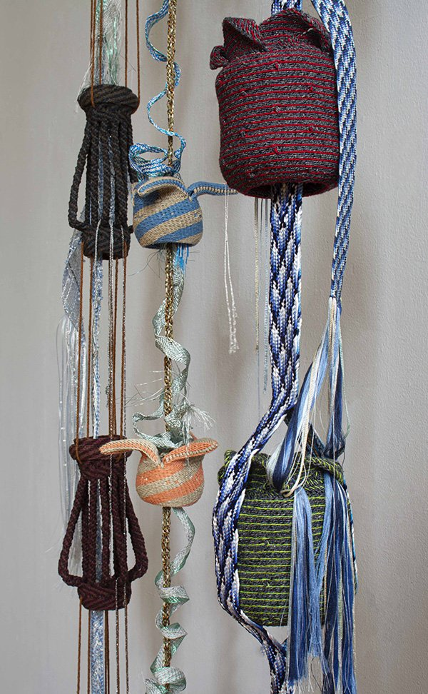 "Lyn Christiansen, ""Kusari Doi"" [Rain Chain], at Waltham Open Studios 2020"