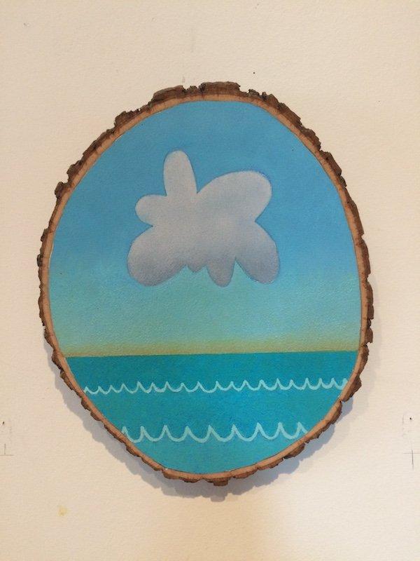 Cloud over ocean painting by Johnathon Stangroom