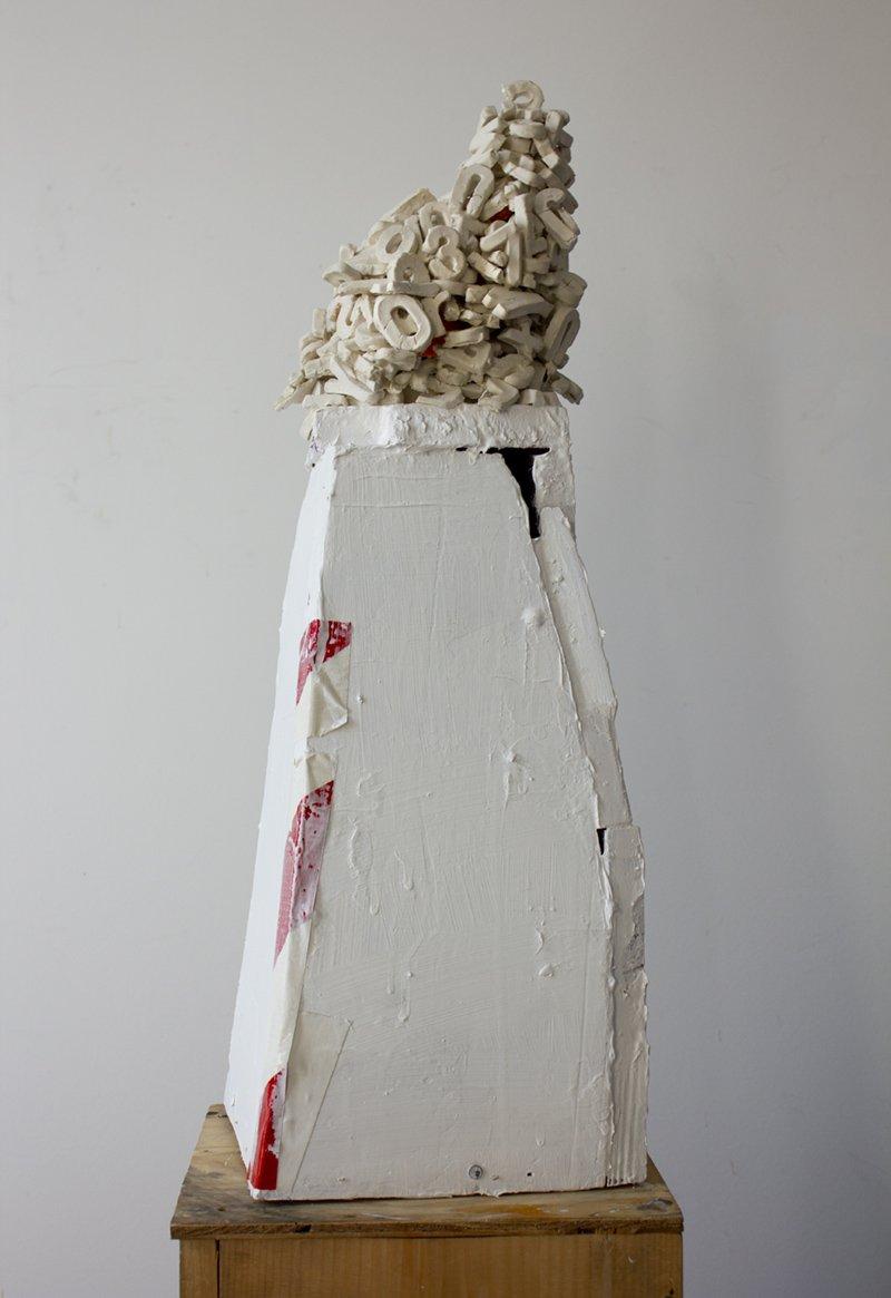 Kathleen Volp, Babel with Alphabet, Waltham Open Studios 2020