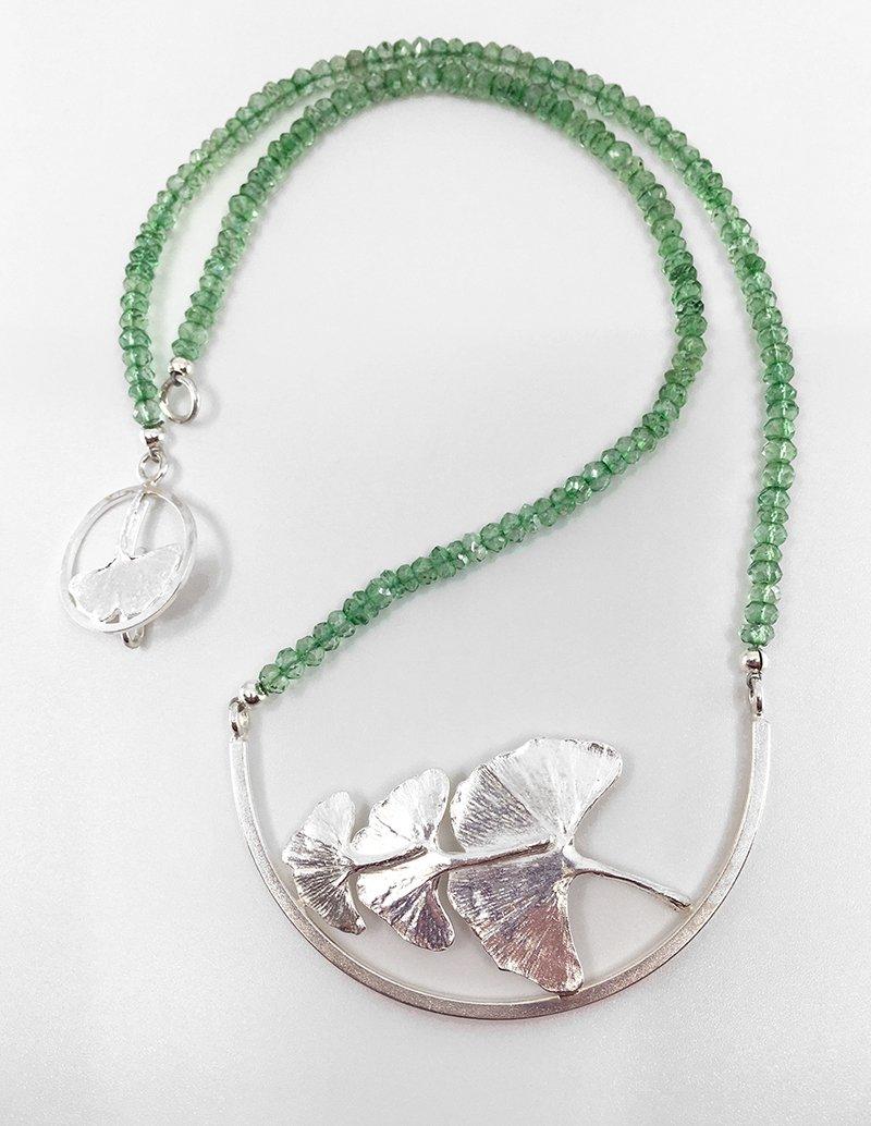 C.B. Miller Metals, Gingko Leaf Necklace, at Waltham Open Studios 2021