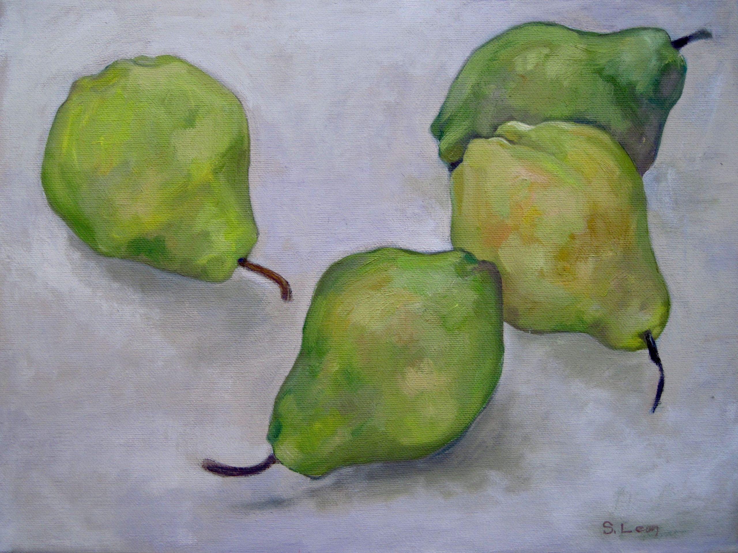 Sarah Leon, Pears, Waltham Open Studios 2021