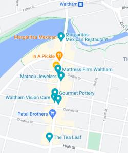 Waltham Art Window Walk map 2021