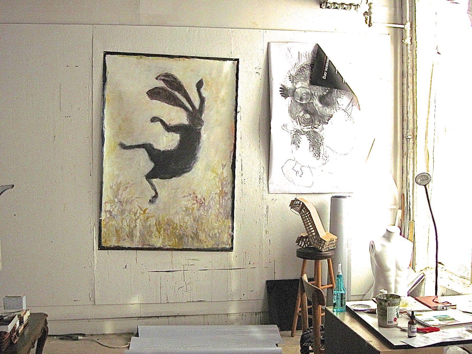 Sarah Leon, Studio, Waltham Open Studios, 2021