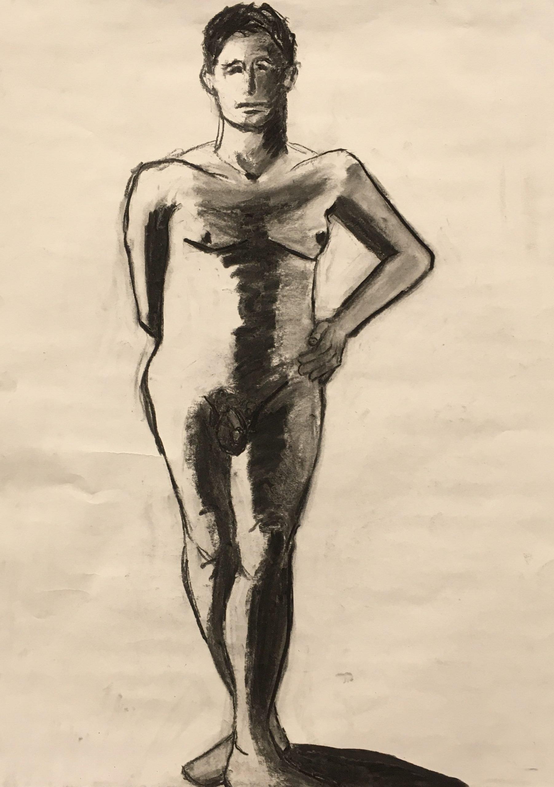 Jan Corash, man standing at Waltham Open Studios. 2021